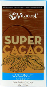 Vitaco, Super Cacao Coconut with lifesDHA(R) - 66% Dark Cacao - 1.75 oz -5 PACK