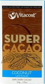 Vitaco, Super Cacao Coconut with lifesDHA(R) - 66% Dark Cacao - 1.75 oz