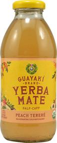 Guayaki, Organic Yerba Mate Half-Caff,  Peach Terere - 16 fl oz -5 PACK