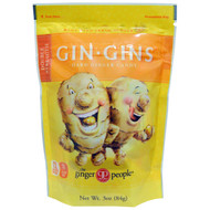 3 PACK OF The Ginger People, Gin Gins, Hard Ginger Candy, Double Strength, 3 oz (84 g)