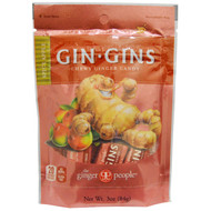 3 PACK of The Ginger People, Gin-Gins, Chewy Ginger Candy, Spicy Apple, 3 oz (84 g)