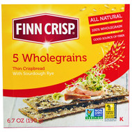 3 PACK of Finn Crisp, 5 Wholegrains Thin Crispbread, 6.7 oz (190 g)