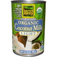 Native Forest Organic Coconut Milk Light - 13.5 fl oz