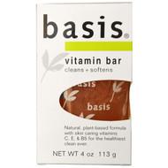 3 PACK of Basis, Vitamin Bar Soap, 4 oz (113 g)
