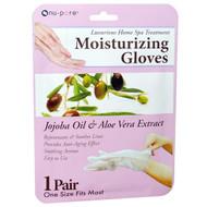 3 PACK of Nu-Pore, Moisturizing Gloves, Jojoba Oil & Aloe Vera Extract, 1 Pair