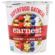 3 PACK OF Earnest Eats, Superfood Oatmeal, Cranberry + Almond + Flax, American Blend, 2.35 oz (67 g)