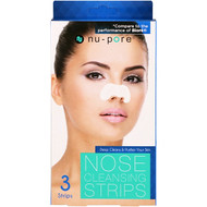 3 PACK of Nu-Pore, Nose Cleansing Strips, 3 Strips