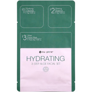 Nu-Pore, Hydrating 3-Step Aloe Facial Set, 1 Pack