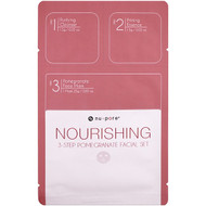 3 PACK OF Nu-Pore, Nourishing 3-Step Pomegranate Facial Set, 1 Pack