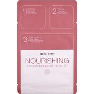 Nu-Pore, Nourishing 3-Step Pomegranate Facial Set, 1 Pack