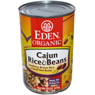 3 PACK of Eden Foods Organic Rice & Beans Cajun Small Red Beans -- 15 oz