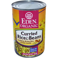 Eden Foods, Organic, Curried Rice & Beans, Lundberg Brown Rice and Green Lentils, 15 oz (425 g) (5 PACK)