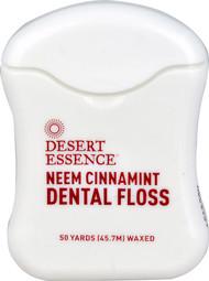 5 PACK of Desert Essence Neem Cinnamint Dental Floss Waxed - 55 Yards
