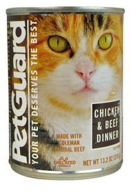 PetGuard, Canned Cat Food,  Chicken & Beef Dinner - 13.2 oz -5 PACK