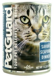PetGuard, Canned Cat Food,  Savory Seafood - 13.2 oz -5 PACK