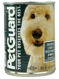 PetGuard, Canned Dog Food,  Chicken Liver and Vegetables Dinner - 14 oz