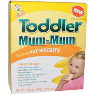 3 PACK of Hot Kid, Toddler Mum-Mum, Banana Rice Biscuits, 20 Biscuits, 1.76 oz (50 g)