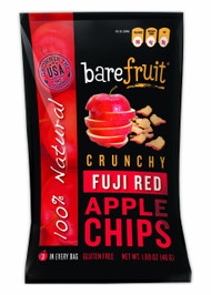 3 PACK of Bare Fruit, Naturally Baked Crunchy, Apple Chips, Fuji & Reds , 1.7 oz (48 g)