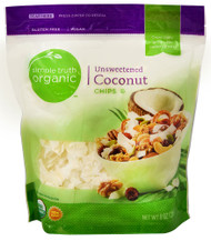 3 PACK of Simple Truth Organic Coconut Chips Unsweetened -- 8 oz
