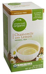 3 PACK of Simple Truth Organic Herbal Tea Chamomile Lemon -- 20 Tea Bags