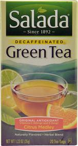 Salada, Decaffeinated Green Tea with Original Antioxidants,  Citrus Medley - 20 Tea Bags -5 PACK