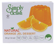 Simply Delish, Natural Jel Dessert Sugar Free,  Orange - 1.6 oz -5 PACK