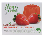Simply Delish, Natural Jel Dessert Sugar Free,  Strawberry - 1.6 oz -5 PACK