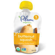 5 PACK of Plum Organics, Organic Baby Food, Stage 1, Just Butternut Squash with Cinnamon, 3 oz (85 g)