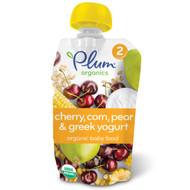 5 PACK of Plum Organics, Organic Baby Food,  Stage 2, Cherry, Sweet Corn & Greek Yogurt, 3.5 oz (99 g)