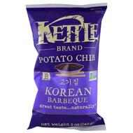 3 PACK OF Kettle Foods, Potato Chips, Korean Barbeque, 5 oz (142 g)