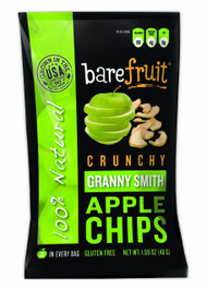 3 PACK of Bare Fruit, Naturally Baked Crunchy, Apple Chips, Granny Smith, 1.7 oz (48 g)