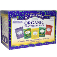 3 PACK of St. Dalfour, Organic Tea Variety Pack, 25 Tea Bags, 1.75 oz (50 g)