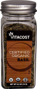 5 PACK of Vitaco Certified Organic Basil - 0.5 oz