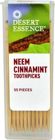 5 PACK of Desert Essence Neem Cinnamint Toothpicks - 55 Toothpicks