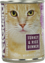 PetGuard, Canned Cat Food,  Turkey and Rice - 13.2 oz -5 PACK