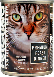 PetGuard, Canned Cat Food,  Premium Feast Dinner - 13.2 oz -5 PACK