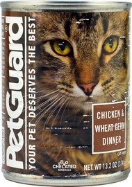 PetGuard, Canned Cat Food,  Chicken and Wheat Germ - 13.2 oz -5 PACK