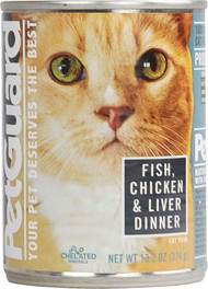 PetGuard, Canned Cat Food,  Fish Chicken and Liver Dinner - 13.2 oz -5 PACK