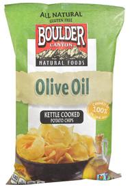 Boulder Canyon, Natural Foods Kettle Cooked Potato Chips,  Olive Oil - 5 oz -5 PACK