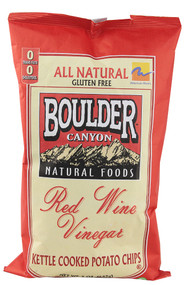 Boulder Canyon, All Natural Gluten Free Kettle Chips,  Red Wine Vinegar - 5 oz -5 PACK