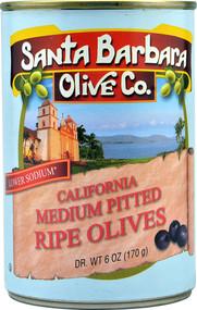 3 PACK of Santa Barbara Olive Co. Pitted Ripe Olives Medium -- 6 oz
