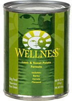 Wellness, Canned Dog Food,  Lamb and Sweet Potato - 12.5 oz -5 PACK