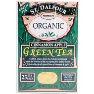 3 PACK of St. Dalfour, Green Tea, Cinnamon Apple, 25 Tea Bags, .07 oz (2 g), Each