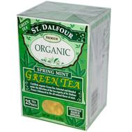 3 PACK of St. Dalfour, Organic, Spring Mint Green Tea, 25 Tea Bags, 1.75 oz (50 g)