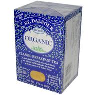 3 PACK of St. Dalfour, Organic, English Breakfast Tea, 25 Tea Bags, 1.75 oz (50 g)