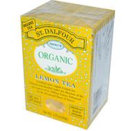 3 PACK of St. Dalfour, Organic, Lemon Tea, 25 Envelopes, 1.75 oz (50 g)