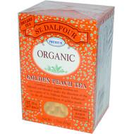 3 PACK of St. Dalfour, Organic, Golden Peach Tea, 25 Tea Bags, 1.75 oz (50 g)