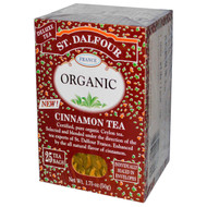 3 PACK of St. Dalfour, Cinnamon Tea, 25 Tea Bags, 1.75 oz (50 g)
