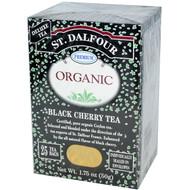 3 PACK of St. Dalfour, Organic, Black Cherry Tea, 25 Envelopes, 1.75 oz (50 g)
