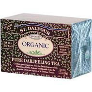 3 PACK of St. Dalfour, Organic Pure Darjeeling Tea, 25 Tea Bags, .07 oz (2 g) Each